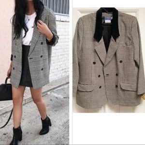 Pendleton Oversized Houndstooth 100 % Wool Blazer